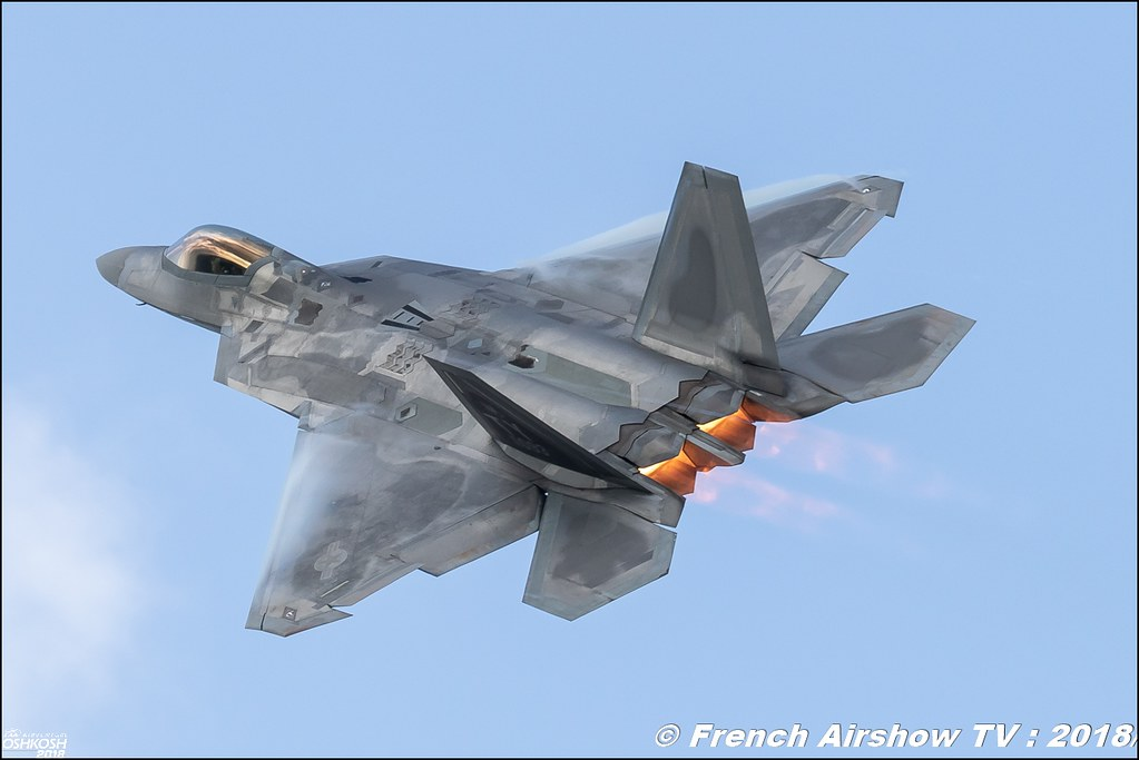 AFRC 70th Anniversary F 22 Raptor airpower EAA Oshkosh 2018