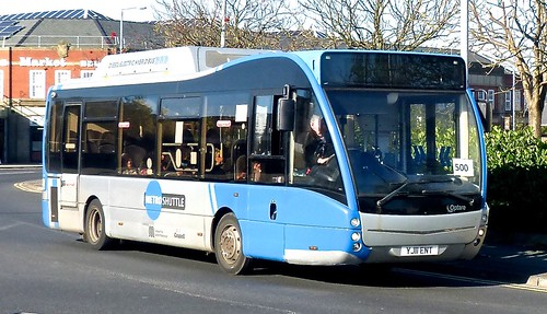 YJ11 ENT 'Cumfybus'. Optare Versa V970H on Dennis Basford's railsroadsrunways.blogspot.co.uk'