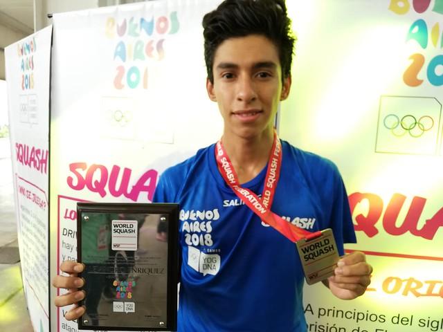 Alejandro Enríquez, embajador de squash en Buenos Aires 2018