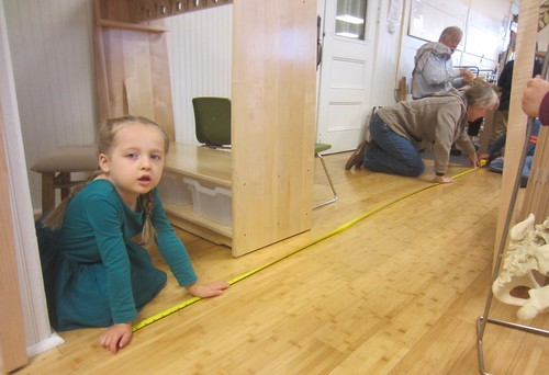 measuring from woodworking to dramatic play