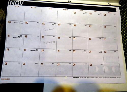 November 2018 Diary