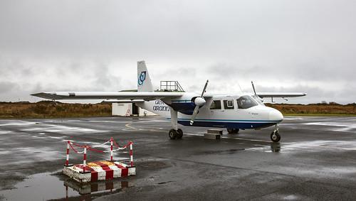 Aer Arann, Britten Norman BN-2A-8 EI-AYN Connemara Airport Ireland 4 october 2018