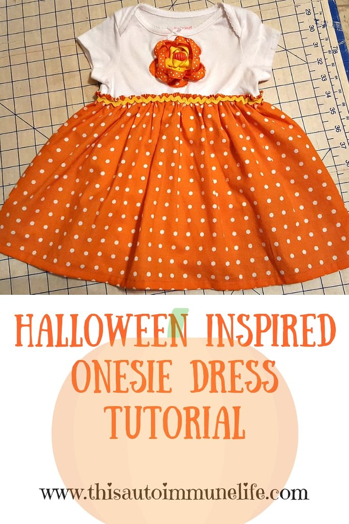 Halloween Inspired Onesie Dress Tutorial-min