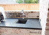 Outdoor Kitchen in Absolute Black Honed Granite