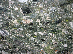 Marinace Green Granite (polymict metaconglomerate) (Ouricuri do Ouro Formation, Mesoproterozoic, ~1.6-1.7 Ga; Bahia, Brazil) 13