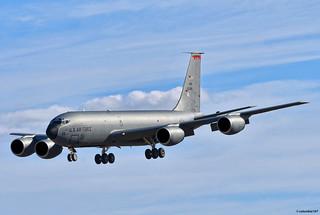 "DSC_2876 copyright: ""USAF KC-135 on finals at Moron Air Force Base post Trans-Atlantic crossing."""