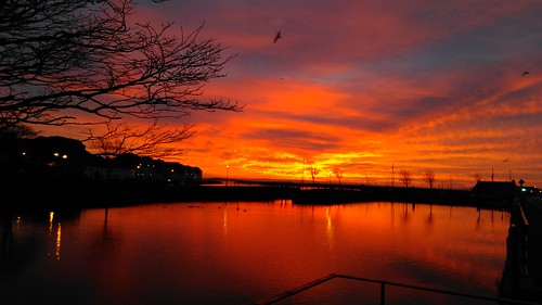 dawn water sky galway