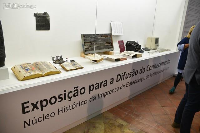 """Inauguração da """"Exposição para a Difusão do Conhecimento – Núcleo Histórico da Imprensa de Gutenberg e do Pentateuco de Faro"""""""