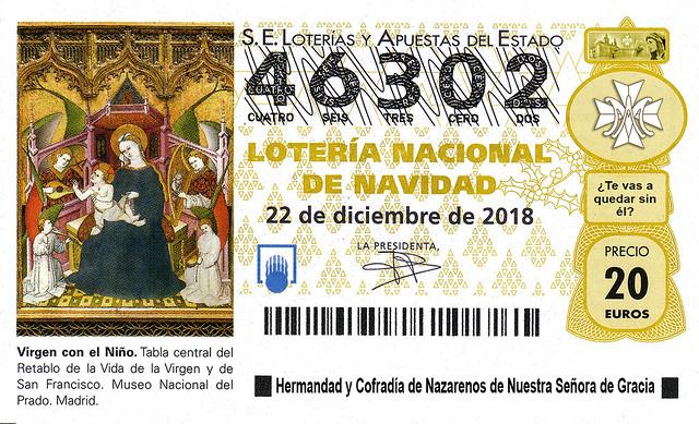 Lotería navidad 2018 a