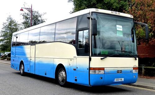 V20 YAL 'Nottingham Coaches'. Scania / Van Hool Alizee on Dennis Basford's railsroadsrunways.blogspot.co.uk'