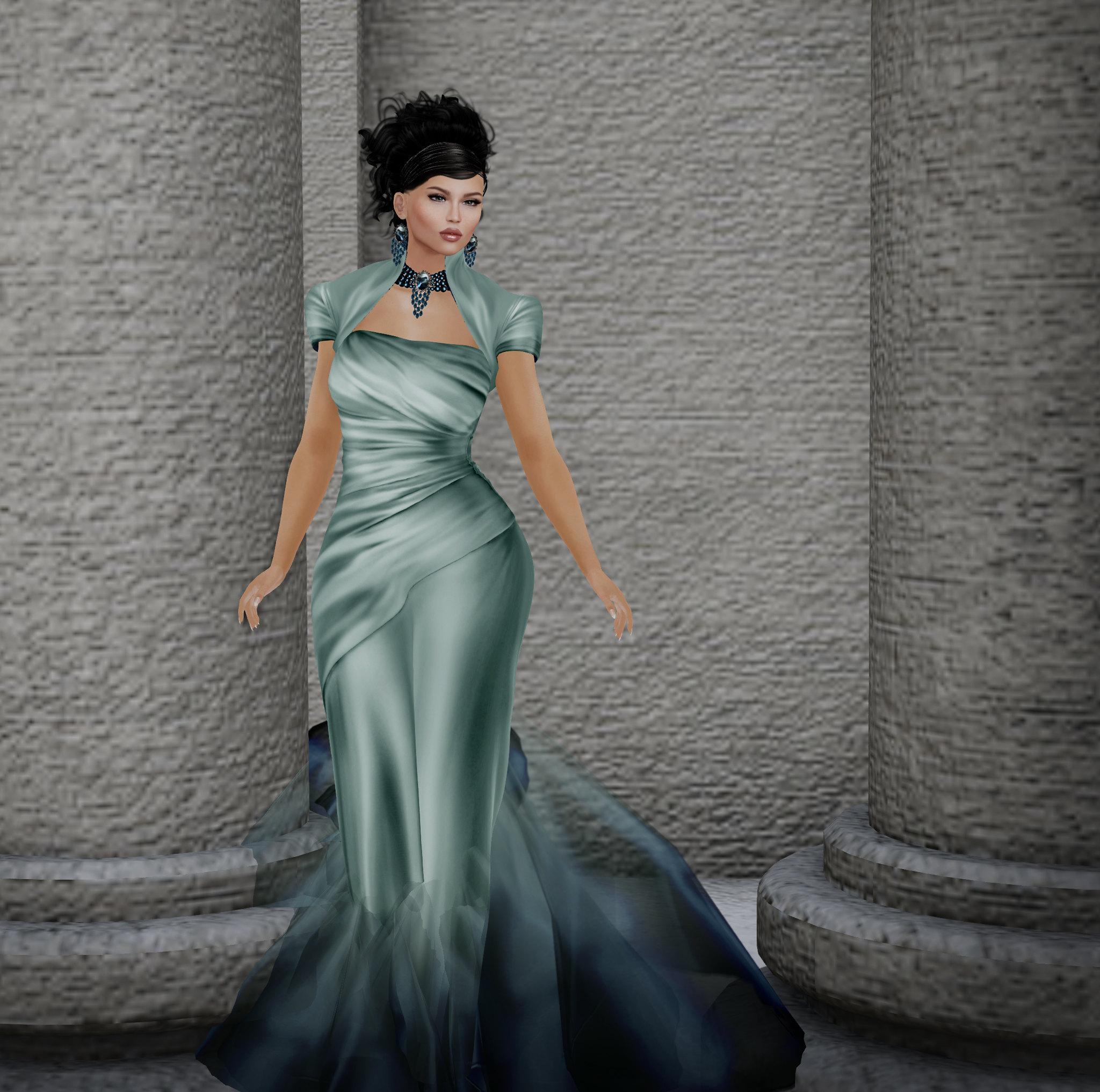 Gizela gown, Azul