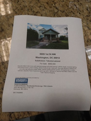 Residential real estate flyers