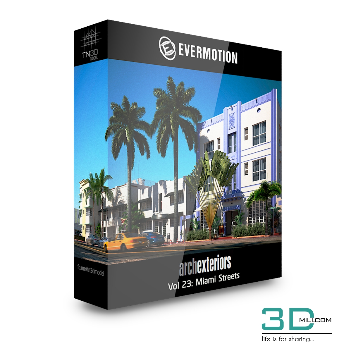 Evermotion Archexteriors Vol 23: Miami Streets - 3D Mili - Download