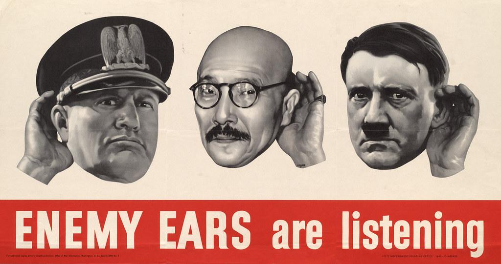 Enemy ears - are listening (1942) - Ralph Iligan (1894-1960)
