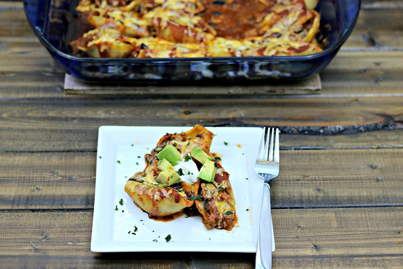 Venison Enchilada Stuffed Shells