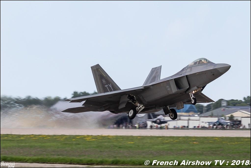 AFRC 70th Anniversary F-22 Raptor Team USAF EAA Oshkosh 2018