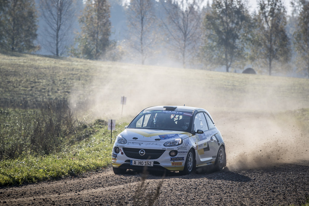 21 KRISTENSSON Tom, (SWE), Henrik APPELSKOG, (SWE), ADAC Opel Rallye Junior Team, Opel Adam R2, Action during the 2018 European Rally Championship ERC Liepaja rally,  from october 12 to 14, at Liepaja, Lettonie - Photo Gregory Lenormand / DPPI