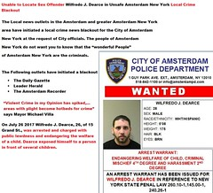 Unable to Locate Sex Offender Wilfredo J. Dearce in Unsafe Amsterdam New York Local Crime Blackout