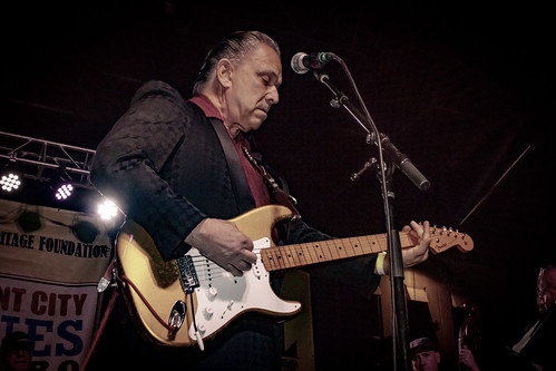 Jimmie Vaughan at Crescent City Blues & BBQ Fest 2018. Photo by Jamell Tate.