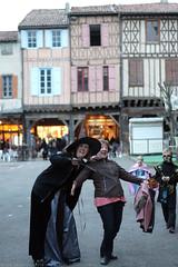 FR18 1269 Stephanie & her mother. Halloween. Mirepoix, Ariège - Photo of Limbrassac