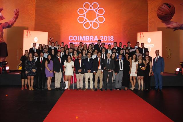Cerimónia de entrega de prémios de mérito desportivo da UC