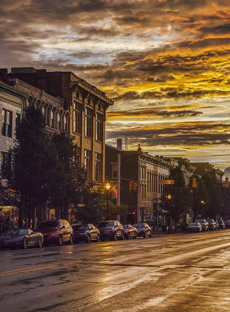 Evening light on Main Street