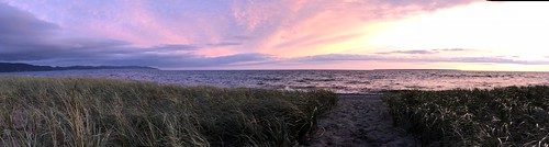 Lake Superior Park sunset panorama