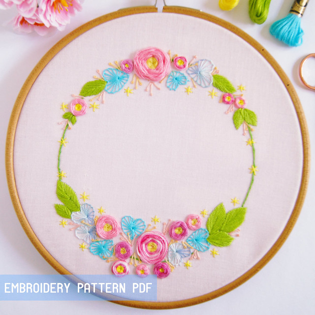 Hearts'n'Roses embroidery pattern