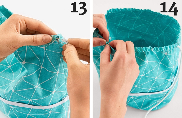 Cosmetic Bag DIY Steps 13 14