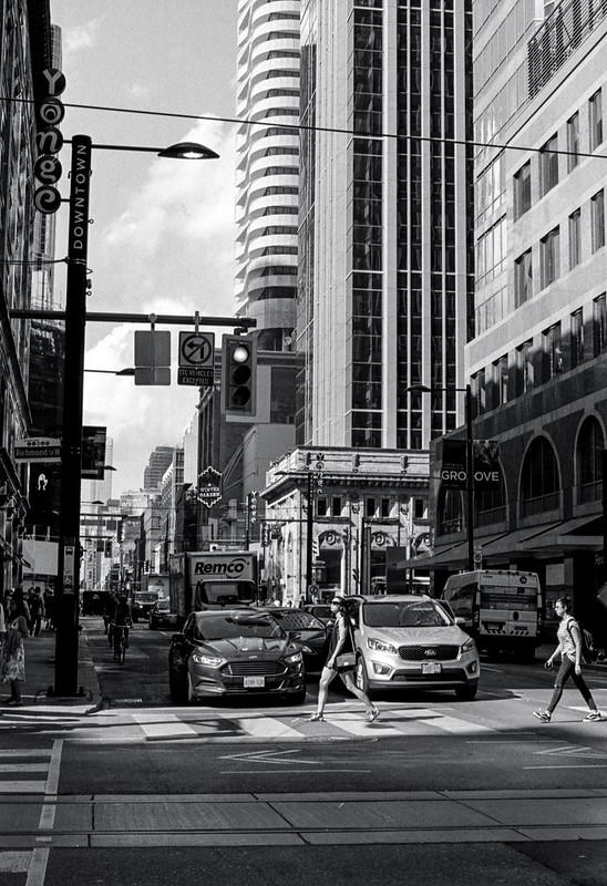 Crossing Yonge St