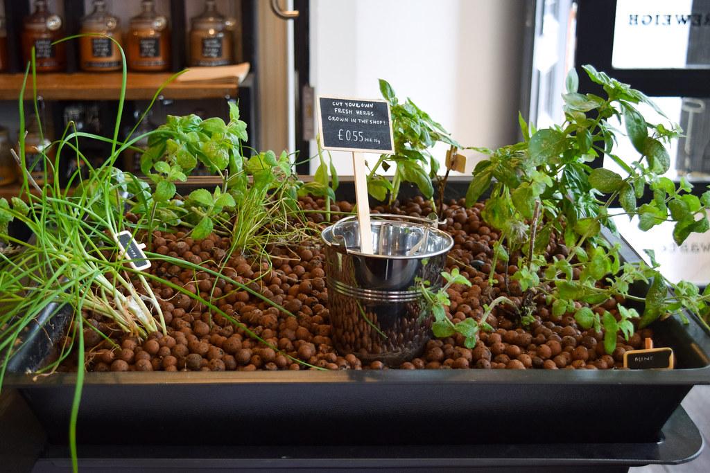 Fresh Herbs at The Clean Kilo, Birmingham