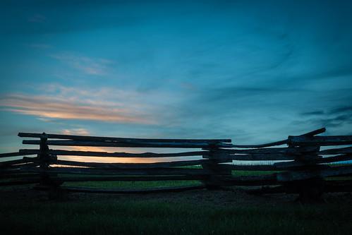 felixzollicoffer millspringbattlefield pulaskicounty zollicofferpark battlefield dusk splitfence sunset