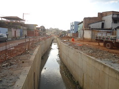 Novas bacias de detenção de cheias dos Córregos Túnel/Camarões já mostraram funcionalidade