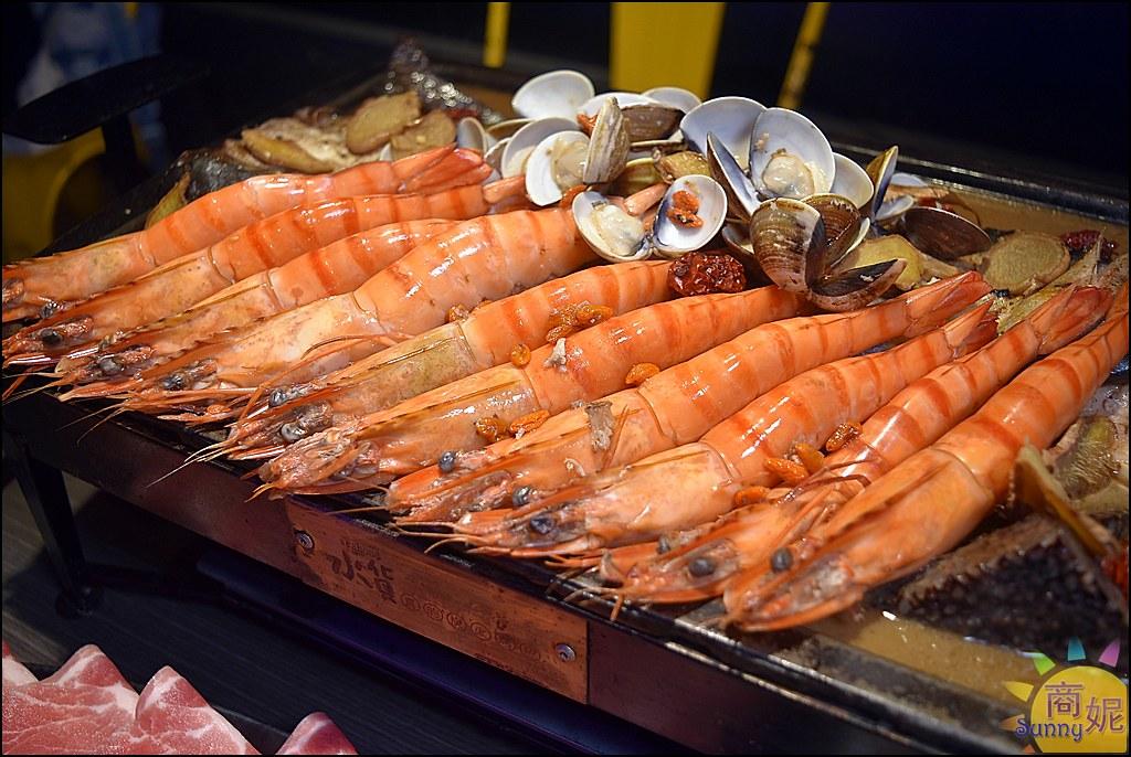 台中公益路美食。水貨烤魚火鍋。麻油雞烤魚、燒酒蝦烤魚一魚三吃冬季進補好選擇
