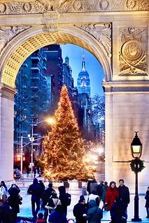 Happy Chanukah  & Happy Christmas 🎄 Washington Square Park New York City