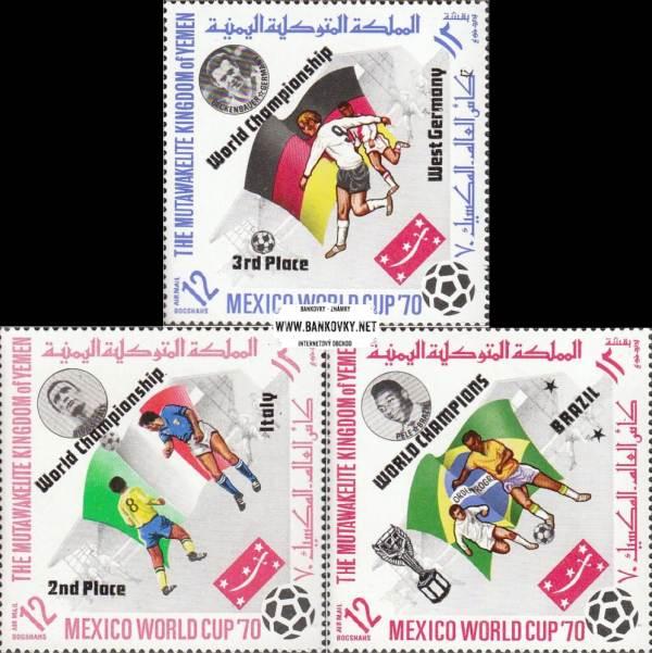 Známky Jemen (kráľovstvo) 1970 Futbal MS 70, MNH