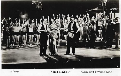 George Brent, Bebe Daniels and Warner Baxter in 42nd Street (1933)