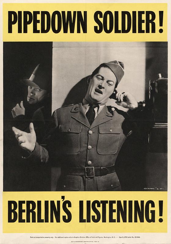 Pipedown soldier! - Berlin's listening! (1942)