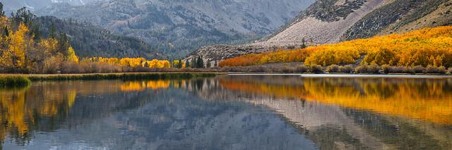 North Lake Fall Colors Reflection
