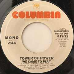 TOWER OF POWER:WE CAME TO PLAY(LABEL SIDE-B)