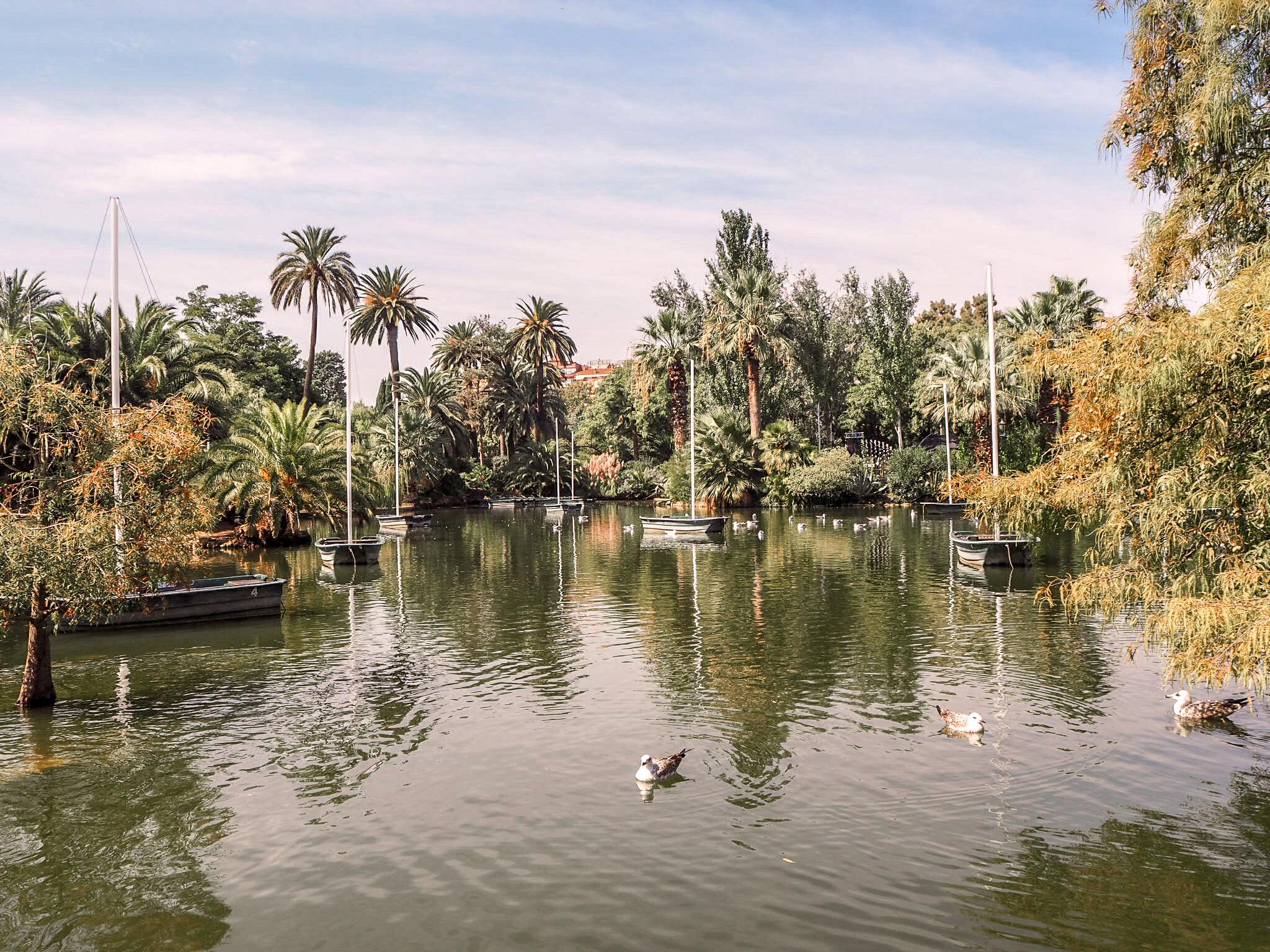 Parc de la Ciutadella tekojärvi