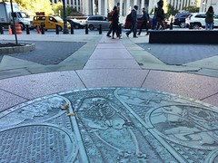 African Burial Ground medallion, Foley Square, NYC