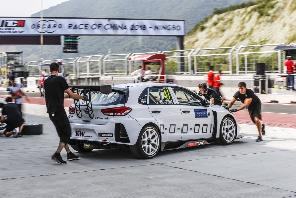 11 BJORK Thed, (swe), Hyundai i30 N TCR team Yvan Muller Racing, action during the 2018 FIA WTCR World Touring Car cup of China, at Ningbo  from September 28 to 30 - Photo Jean Michel Le Meur / DPPI
