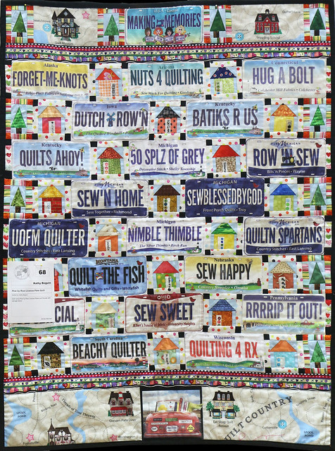 68: Row by Row License Plate Quilt - Kathy Beguin