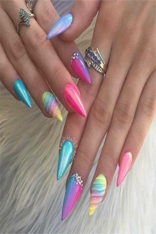 unicorn nails - the best images #fashonails #nail_art_design #unicorn_nails