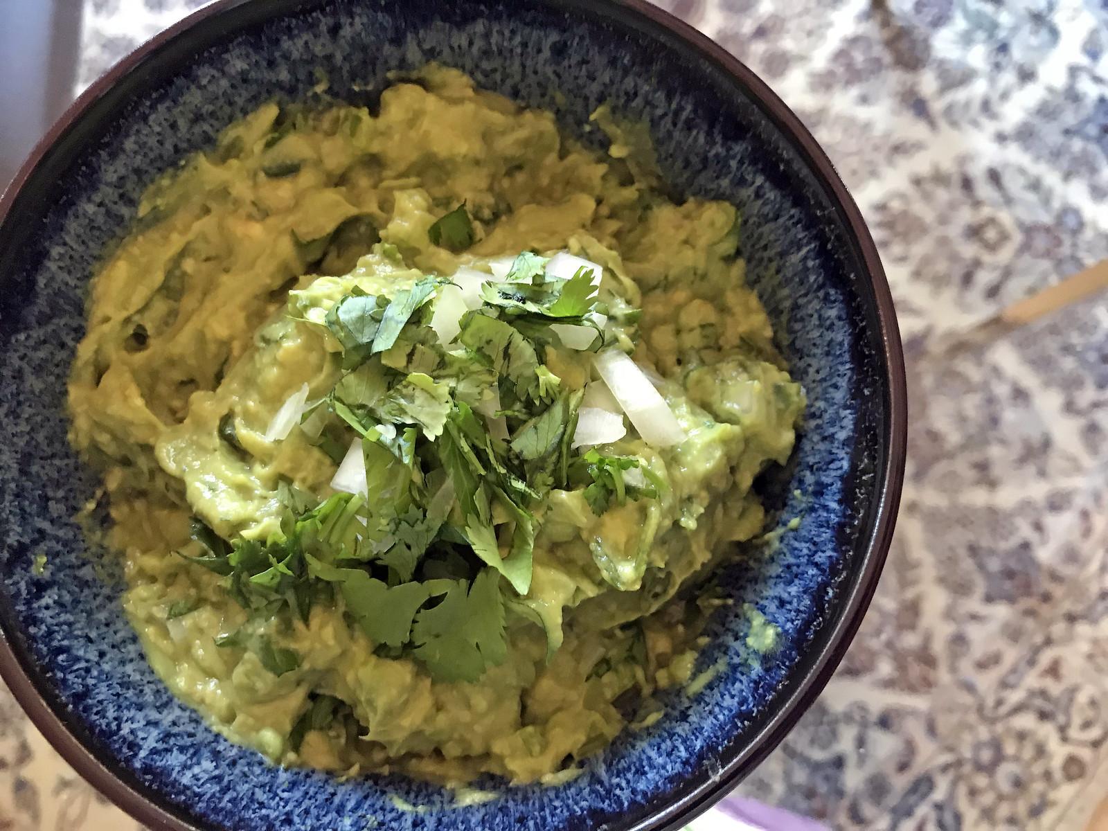 Celery-spiked guacamole