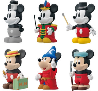 ENSKY《米老鼠》米老鼠指偶盒玩!ミッキーマウス ソフビパペットマスコット