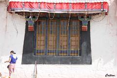 Colourful windows - Drepung Monastery, 哲蚌寺, Tibet, China