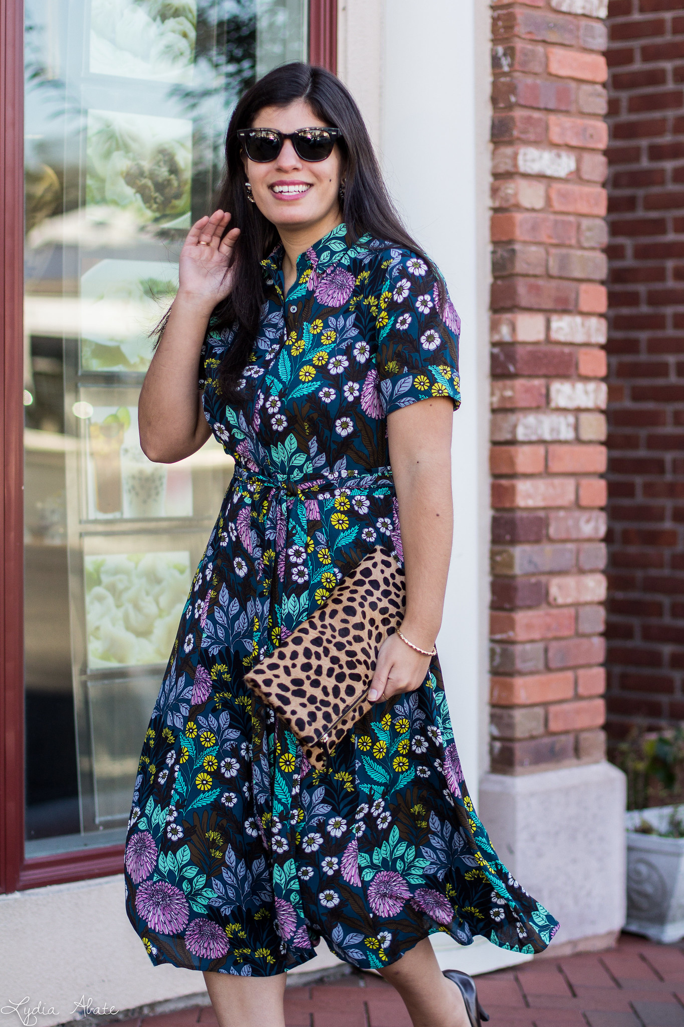 J.Crew X Abigail Borg shirtdress, leopard clutch, coach pumps-4.jpg