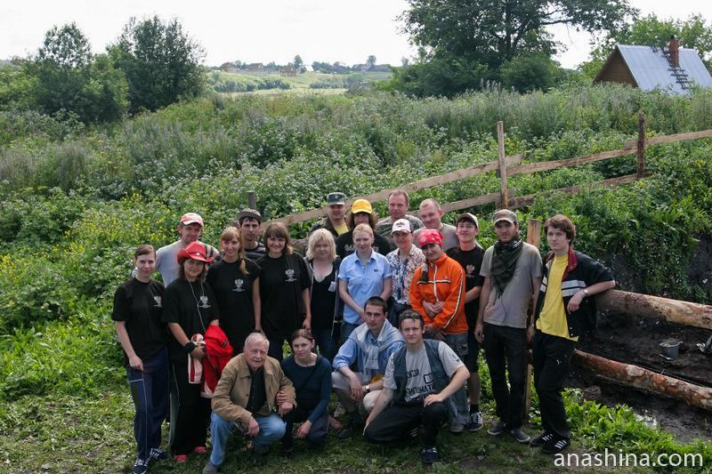 Профессор А.Н.Кирпичников и наш отряд. Староладожская археологическая экспедиция, 2008 год